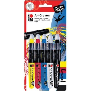 Marabu Creative Art Crayon Set 5/Pkg-Primary
