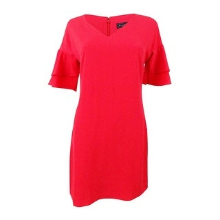 Link to Jessica Howard Women's Petite Shift Ruffle-Sleeve Dress - Coral Similar Items in Petites