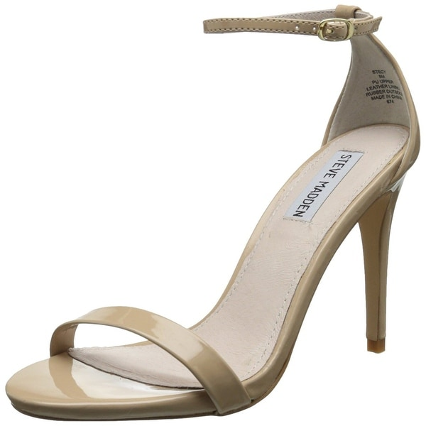 Steve Madden Womens Stecy Leather Open Toe Casual Ankle Strap Sandals