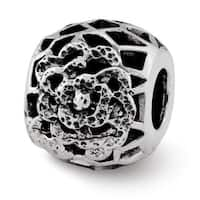 Sterling Silver Reflections Flower Bali Bead (4mm Diameter Hole)