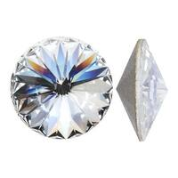 Swarovski Elements Crystal, 1122 Rivoli Fancy Stones 12mm, 4 Pieces, Crystal SF