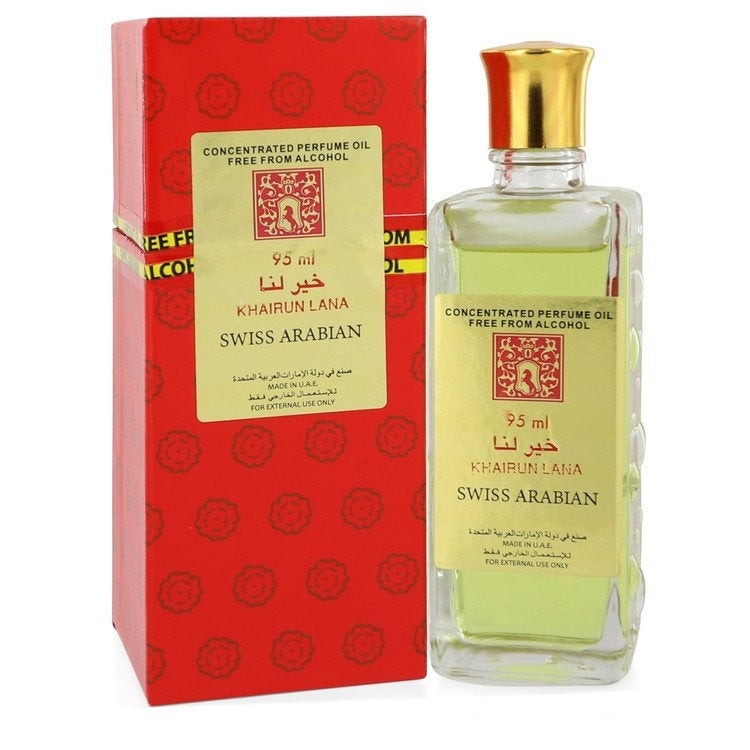 Khairun Lana by Swiss Arabian Concentrated Perfume Oil Free From Alcohol (Unisex) 3.2 oz For Women (3.1 - 4 Oz.)