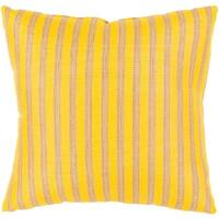 """20"""" Sunbrella Sunny Yellow and Beige Striped Indoor/Outdoor Decorative Throw Pillow"""