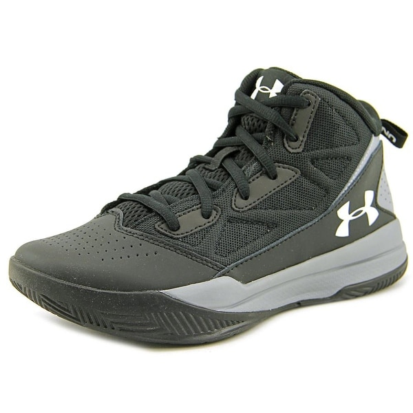 Under Armour BGS Jet Mid   Round Toe Leather  Basketball Shoe