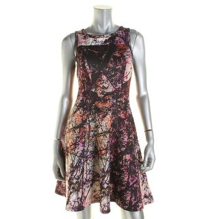 Karen Kane Womens Printed Pullover Scuba Dress - S