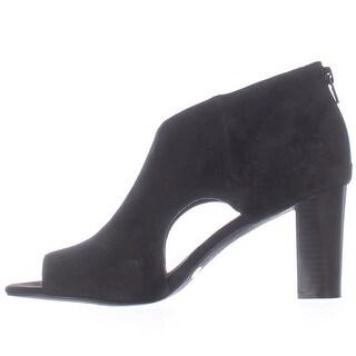 Alfani Womens MYELLES Peep Toe Classic Pumps, Black, Size 7.5
