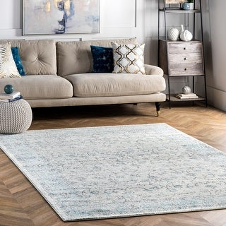 Link to nuLOOM Vintage Distressed Flourish Area Rug Similar Items in Rugs