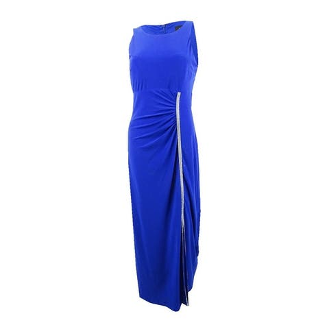 MSK Women's Embellished Ruched Jersey Gown