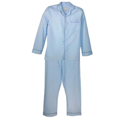 Ten West Apparel Long Sleeve Long Leg Solid Pajama Set