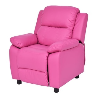 Costway Kids Recliner Sofa Armrest Chair Couch Lounge Children Living Room  Furniture Rose Red