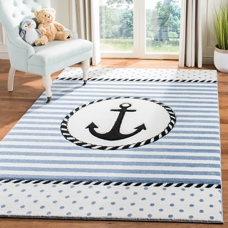Link to Safavieh Carousel Kids Aftina Nautical Anchor Rug Similar Items in Shabby Chic Rugs