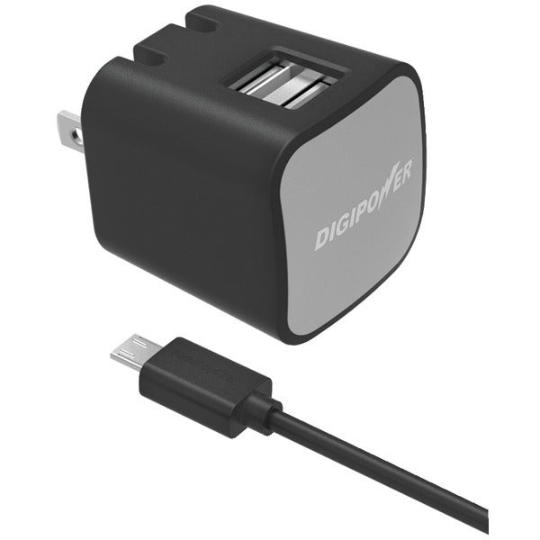 Digipower Is-Ac2Dm Instasense(Tm) 2.4-Amp Dual-Port Usb Wall Charger