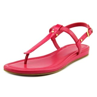 Cole Haan Boardwalk Thong Women Open Toe Patent Leather Pink Thong Sandal