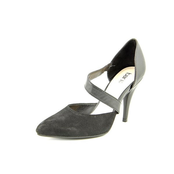Bar III Edith1 Women Pointed Toe Suede Black Heels