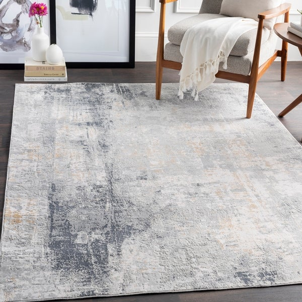 The Gray Barn Brook Haven Light Grey and Tan Modern Area Rug. Opens flyout.
