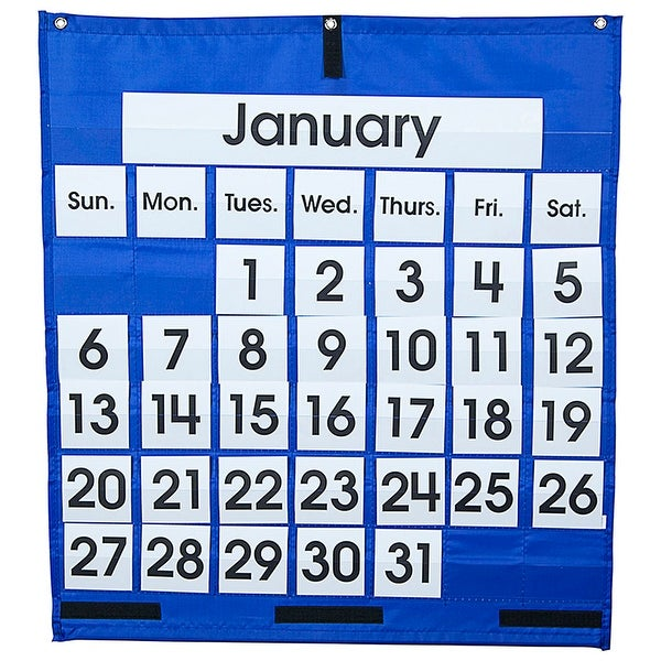 Pocket Chart Monthly Calendar 25 X 28 Free Shipping On Orders Over 45 22139389