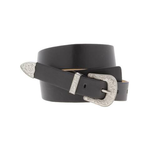 BCBGeneration Womens Fashion Belt Faux Leather Buckle - XS