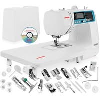 Janome 4120QDC Computerized Sewing Machine w/ Hard Case + Extension Table + Bonus Quilting Kit