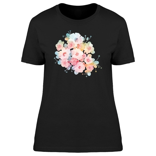 Pastel Colored Flowers Tee Women's -Image by Shutterstock