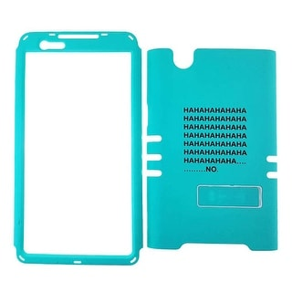 Rocker Series Snap-On Protector Case for ZTE Zmax (Words on Blue)