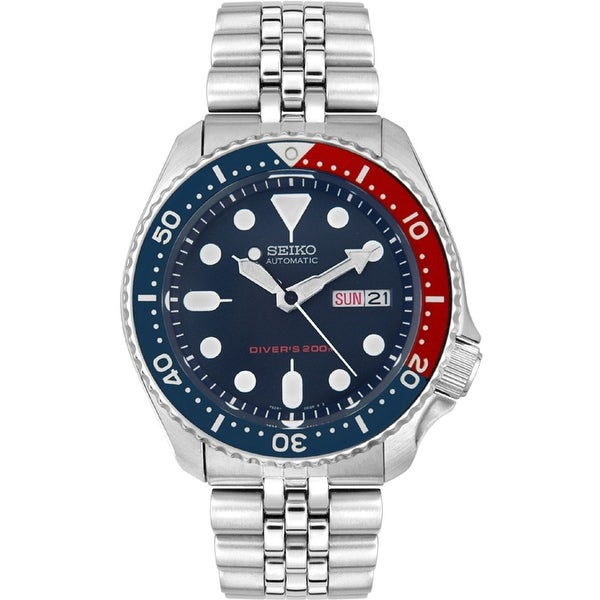 9e0b7950af9d8 Shop Seiko Men s Automatic Blue Stainless-Steel Automatic Diving Watch -  Free Shipping Today - Overstock - 19584011