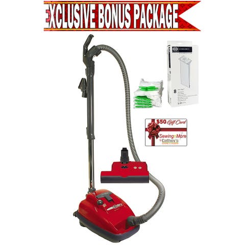 Sebo 9687AM Airbelt K3 Red Canister Vacuum w/ Exclusive Bonus Package!
