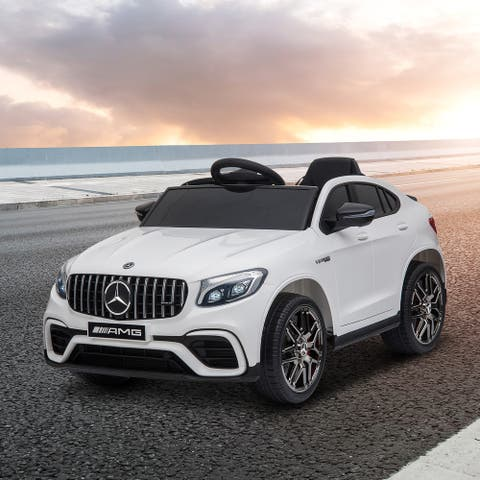 Aosom 12V Ride On Car Toy for Kids with Remote Control, Mercedes Benz AMG GLC63S Coupe