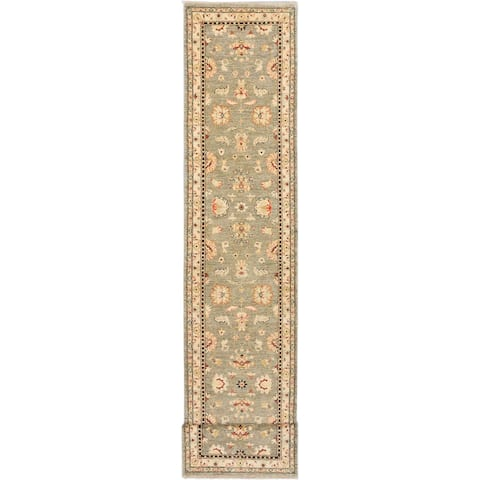 Hand-knotted Chobi Finest Grey Wool Rug