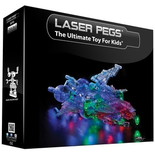 Laser Pegs Lighted 24-in-1 Construction Kit Spacehip