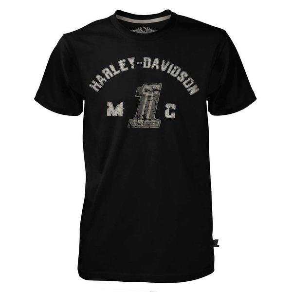 Harley-Davidson Men's Black Label Collegiate Short Sleeve T-Shirt Black 30291523