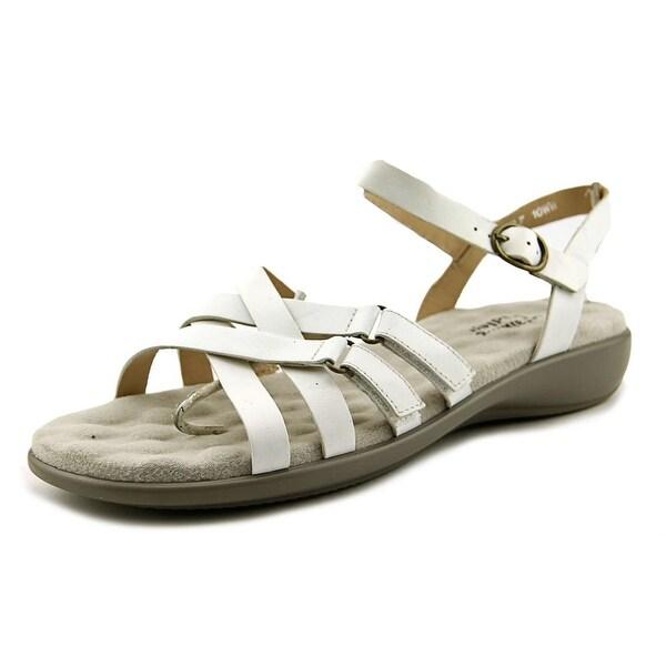 Walking Cradles Sleek Women WW Open-Toe Leather White Slingback Sandal