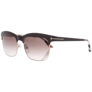 Link to Tom Ford Womens Elena  Rectangle Sunglasses UV Protection Fashion - Shiny Dark Brown/Brown - O/S Similar Items in Women's Sunglasses