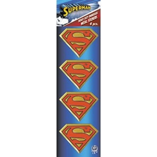 "Dc Comics Licensed Heavy Duty Embossed Metal Stickers 4/Pkg-Superman Logo 1.125""X1.5"""