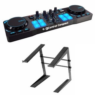 Hercules DJControl Compact super-mobile USB Controller and Laptop Stand