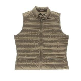 Lauren Ralph Lauren Womens Canyon Quilted Solid Outerwear Vest - pm
