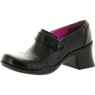 Kenneth Cole Girls Free Style Casual Shoes With Heel - black.