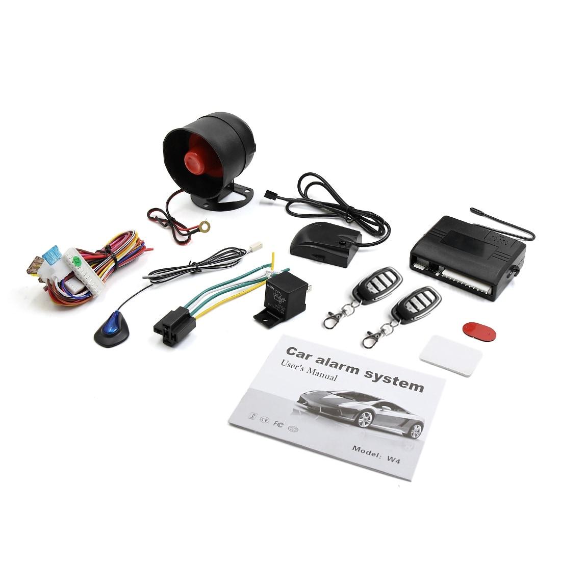 Box 1-Way Car Auto Vehicle Alarm /& Keyless Entry Siren Security System 2 Remote