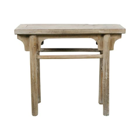 Lily's Living 40 in. Wide Weathered Natural Reclaimed Wood Antique Ming Style Console Table (Size & Finish Vary)