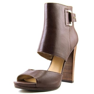 Nine West Violet Hour Open-Toe Leather Bootie