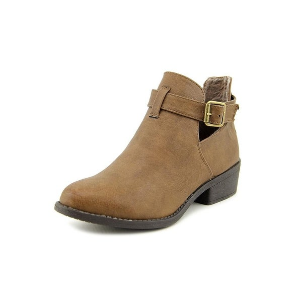 Vybe Dolly Women Round Toe Synthetic Brown Bootie