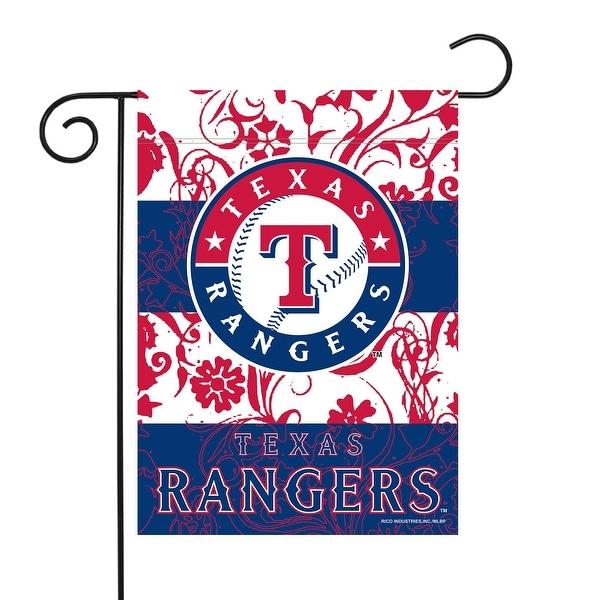 "18"" x 13"" Blue and White MLB Texas Rangers Outdoor Garden Flag - N/A"