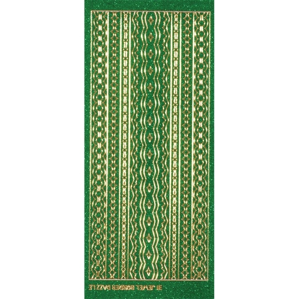 Dazzles Stickers-Jewel Borders-Green - Green