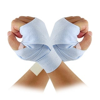 "Unique Bargains Light Blue 1.5"" Width Boxing Bandage Hand Wrap Support"