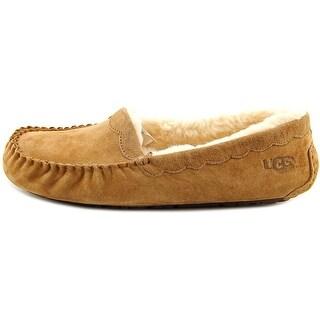 UGG Australia Womens Scalloped Wool Closed Toe Slip On Slippers