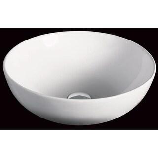 "Eago BA351 17-7/8"" Round Ceramic Above Mount Bathroom Basin - White"