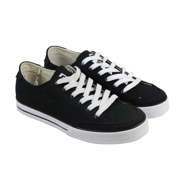 Shop Circa 50 Classic Mens Black Canvas Lace Up Sneakers Shoes - Free Shipping On Orders Over $45 - Overstock - 17914399