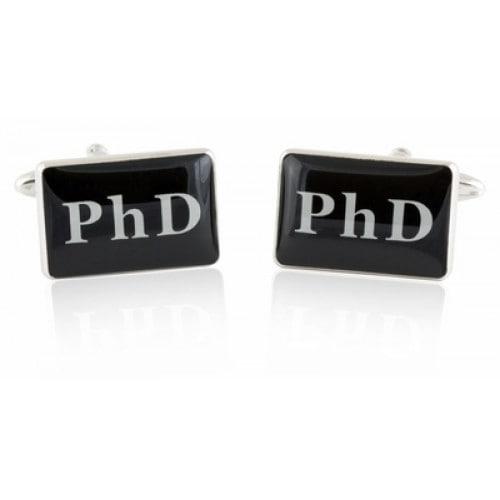 PHD Doctorate Education Degree Celebration Graduation Cufflinks