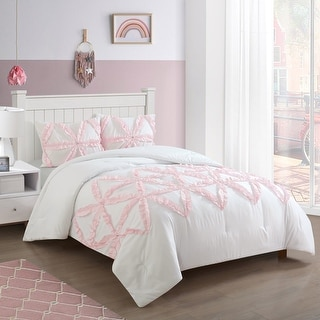 Link to Heritage Club Lola Ruffle Comforter Set with Jewels Similar Items in Kids Comforter Sets