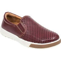 Deer Stags Boys' Jace Slip On Sneaker Burgundy Simulated Leather