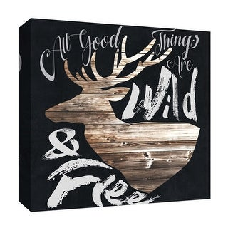 "PTM Images 9-126891  PTM Canvas Collection 12"" x 12"" - ""Landmark III"" Giclee Deer Art Print on Canvas"